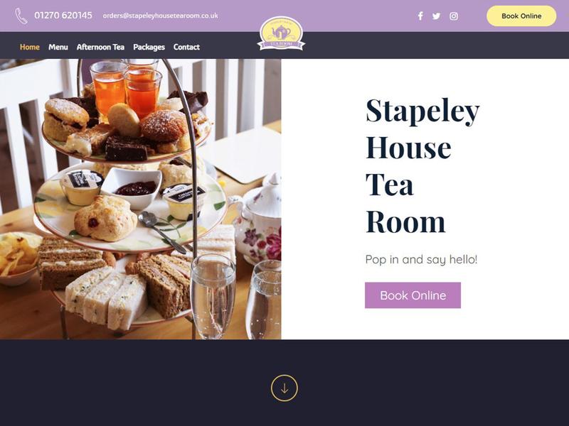 Tea Room Homepage restaurant website restaurant tea room cafe website homepage website cafe