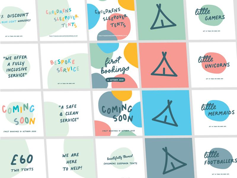 Social Media Image Bundle kids design squares social pack social media pack