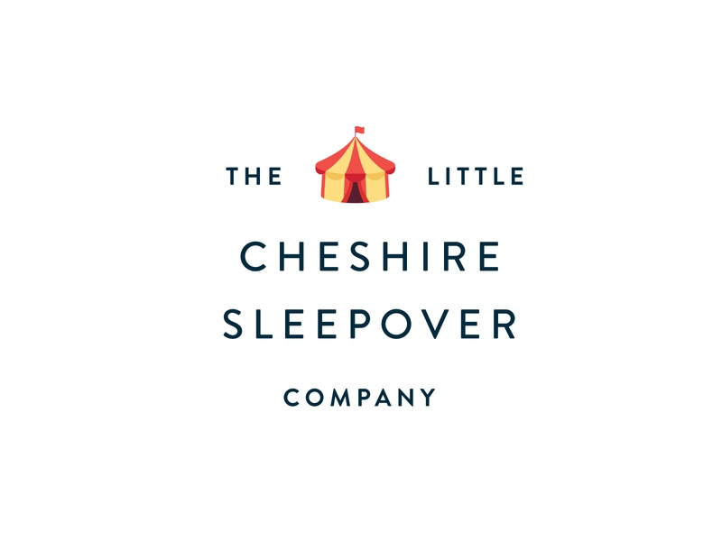 Sleepover Tent Hire Company Logo modern text modern font modern logo circus sleepover tent card tent icon logo