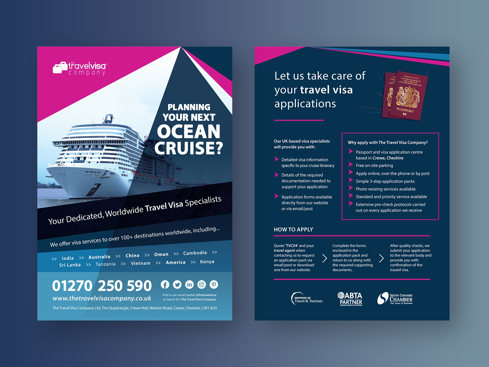 Ocean Cruise Flyer by James Healy on Dribbble