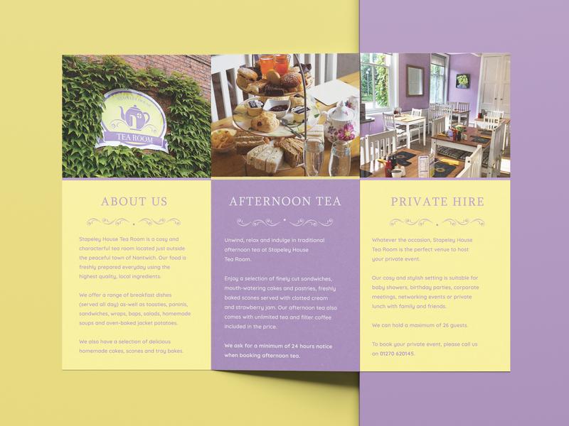 Cafe Brochure food leaflet flyer mockup tea trifold brochure cafe