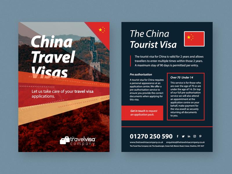 Informational Flyer - China Travel Visas flyer design corporate travel visa visa travel china flyer