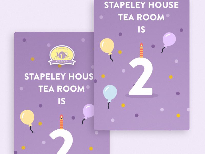 Happy Birthday Stapeley House Tea Room! 🎉 party birthday party celebrate social media balloons cafe candle tea tea room birthday