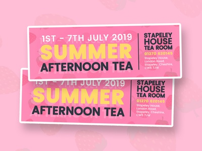 Mini Summer Afternoon Tea Flyers