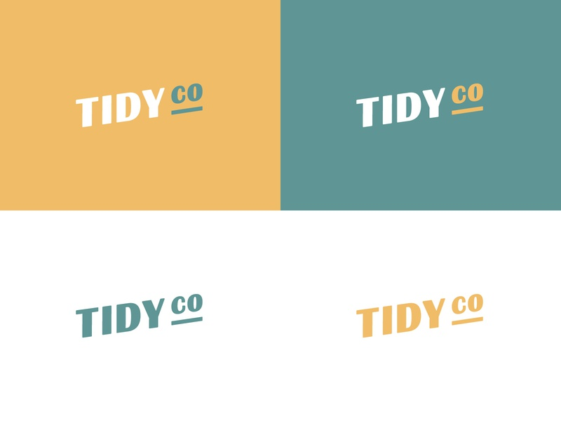 Tidyco Logo Version 2 green yellow minimal identity branding typography typeface logo