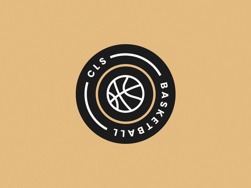CLS Basketball Logo basketball icon icon basket ball sports logos sports logo circle logo beige neutral mininal lines club logo basketball logo basketball