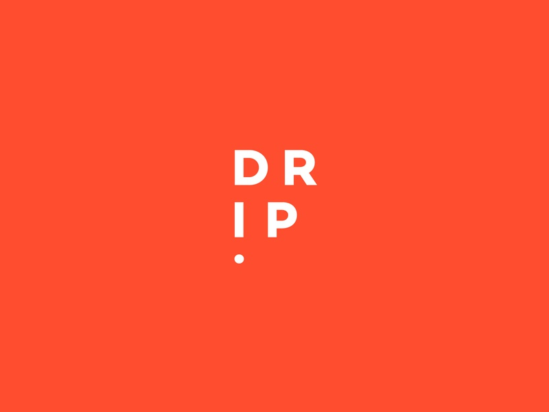 Drip Logo Concept branding brand designer logo fashion apparel sanserif orange icon logo drip