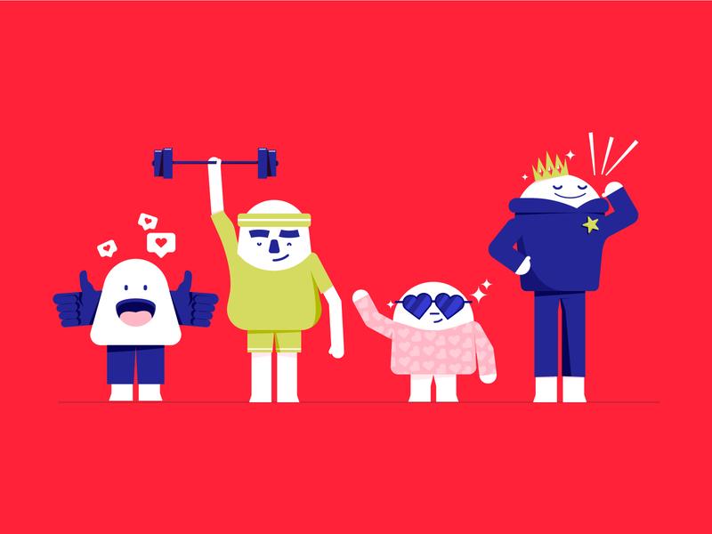 The hormones of happiness art direction illustration hormones happiness character design characters