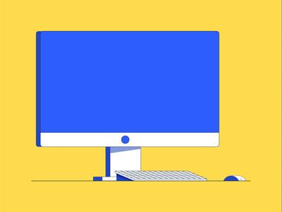 iMac modern design flat design after effects animation ae illustration technology computer imac
