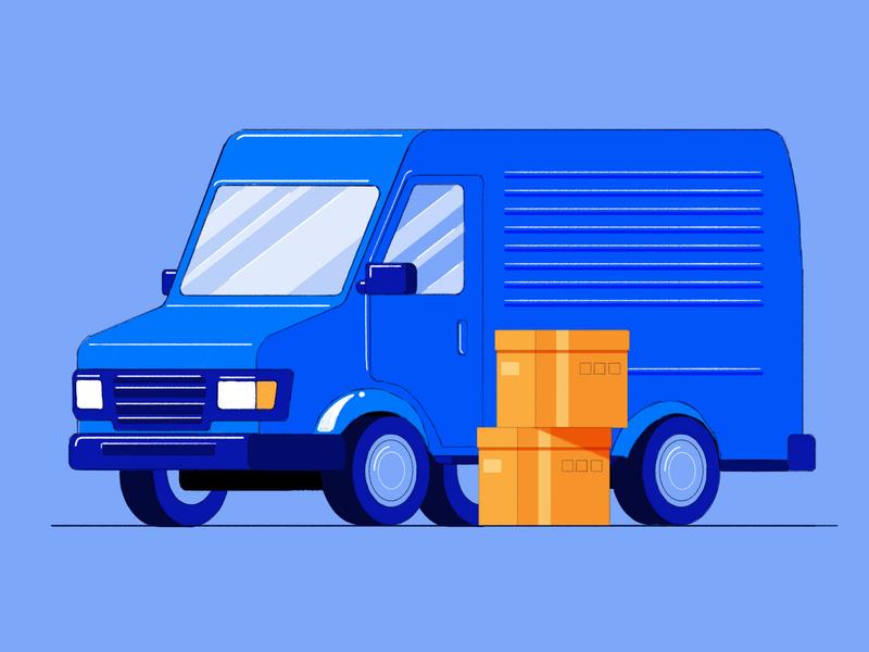 Delivery van design product designs delivery truck product design product illustration illustration van delivery