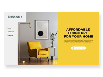 XD Challenge #001 - Transition web furniture ecommerce ui transition