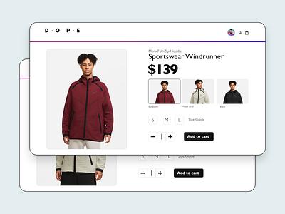 XD Challenge #002 - Product Options xddailychallenge xd minimalistic design ecommerce design clothing web ui ecommerce