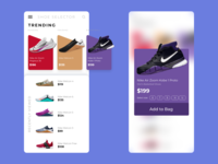 XD Challenge #003 - Scroll ecommerce mobile app sneakers shoes xddailychallenge xd design xd