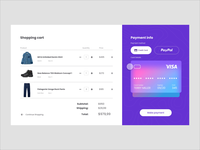 XD Challenge #005 - Shopping cart credit card shopping cart ecommerce xddailychallenge xd design ui design ui