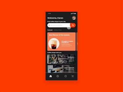 Quickly app uidesign ui motion illustration empty cart shop coffee xd design xd concept app