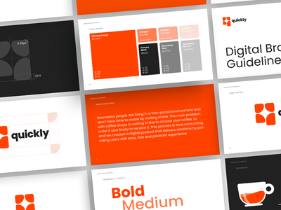 Quickly Style Guide idenity ui design style guide orange typography ui guidelines brand guide brand