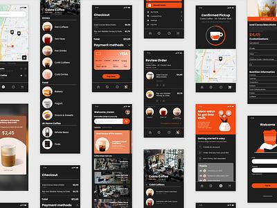 Quickly Screens order coffee uiux xd ui kit uidesign ui screens design app