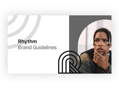 Rhythm Style Guide colors brand branding uiux design ui guide style rhythm