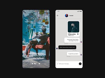 Rhythm uidesign concept ios xd design uxui app rhythm music stream