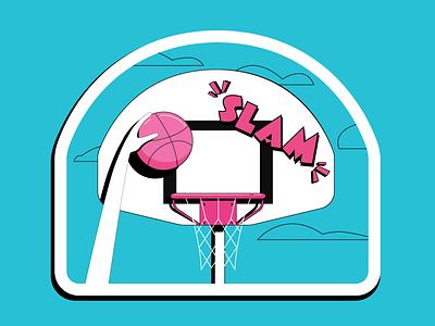 Dribbble Jammin' playoff sticker vector dunk slam dribbble basketball
