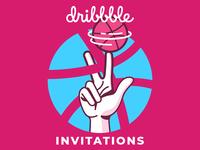 Three Dribbble Invitations