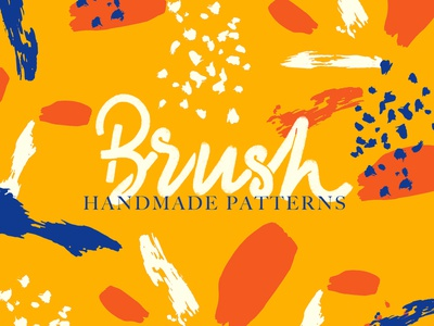 Handmade Brush Patterns graphic art texture trendy modern lettering typography colorful strokes handrawn handmade pattern brush