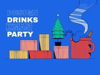 Design Drinks Xmas party cover art