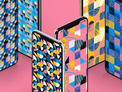 Geometric textured & Seamless Patterns