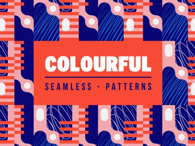 Colourful seamless patterns