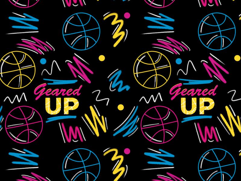 Basketball Pattern pattern illustration design old school 90s basketball