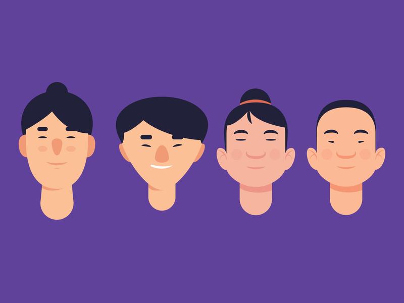 Character Heads boy drawing shot art vector illustration characterdesign explore head character