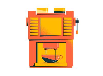 Coffee machine 2d flat digital design illustration motion ae animation machine coffee