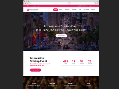 Impression – Free Bootstrap HTML Event and Conference Template bootstrap theme template freebie free html5 html conference event