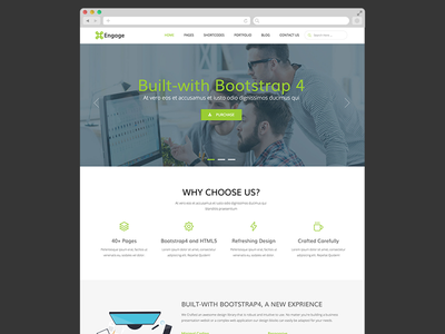 Engage - Free Bootstrap 4 Template agency business bootstrap 4 bootstrap html html5 free freebie template theme