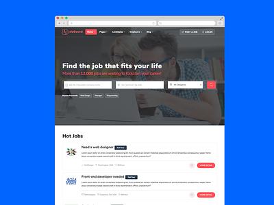 JobBoard – Free Job Portal Website Template listing job html freebie free download classified html5 bootstrap job board job portal