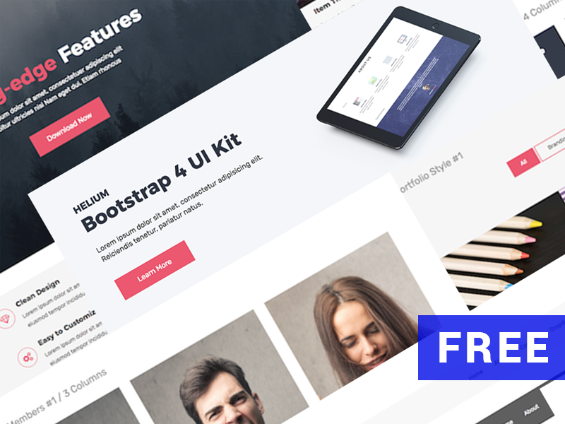 Download Free Bootstrap UI Kit – Helium
