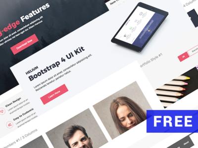 Free Bootstrap UI Kit - Helium business components html free freebie design ui bootstrap ui kit