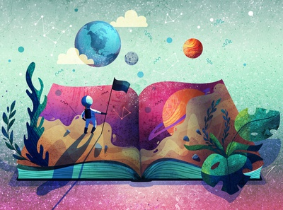 Adventurer directory of illustration illustrator art design stars star illustration animation flag color book map planet dream travel journey space