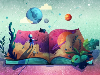 Adventurer directory of illustration illustrator art design stars star illustration animation flag color book map planet dream travel journey space