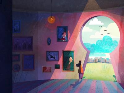 Directory of Illustration key painting woman girl color 3d animation 2d animation animation creativity artists design art illustration directory of illustration