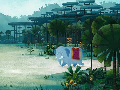 Welcome to the jungle! nature texture forest jungle character animated video cartoon series photoshop illustration background animation