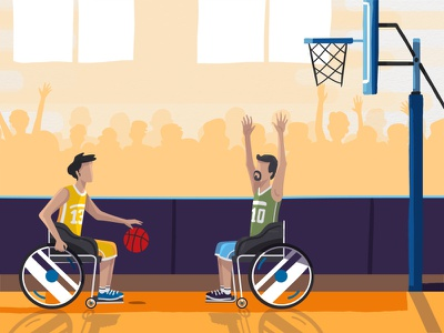 Paralympic Games ball basketball paralympic games sport tvc explainer character animation animation design motion ae