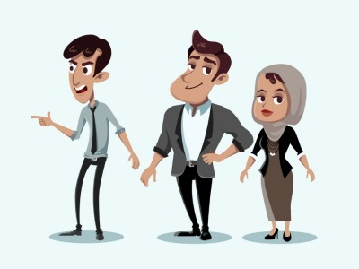 Character concepts - The Business Crew character concepts education commercial explainer video instructional video business animation saudi arabia feature animation educational video e-learning
