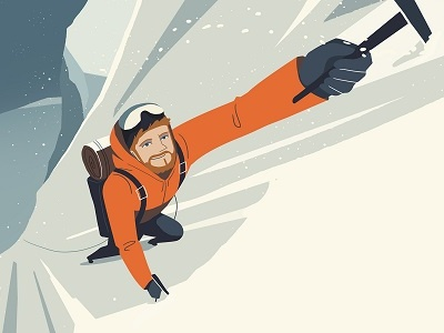 Climbing - Animated Short himalaya climber illustration design snow winter mountains character climbing concept art