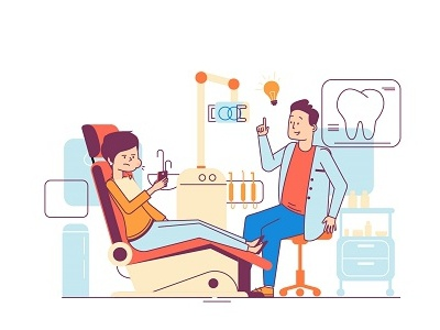 Dentists graph commercial design illustration animation 2d animation explanatory video explainer video doctor tooth medicine dentist