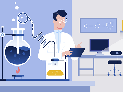 Bio-tech industry project technology explanatory video explainer biotech illustration design styleframe