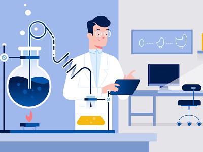 Bio-tech industry project technology explanatory video explainer biotech illustration design styleframe