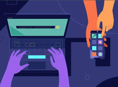 PerfOps 2d explainer video vector motion graphics 2d animation illustration animation it mobile design internet smartphone laptop technology