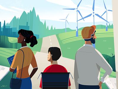 European Grants for Education school education energy green world woman man nature 2d animation vector motion design explainer motion graphics character animation character illustration explainer video design animation