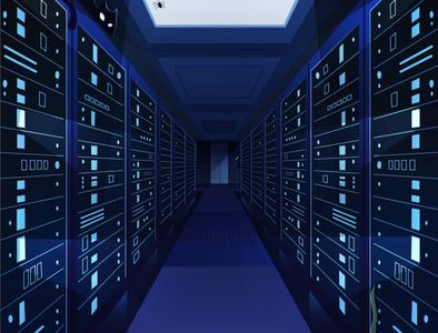 Everything game mobile app app animation illustrator illustration black blue servers spider cat cloud internet